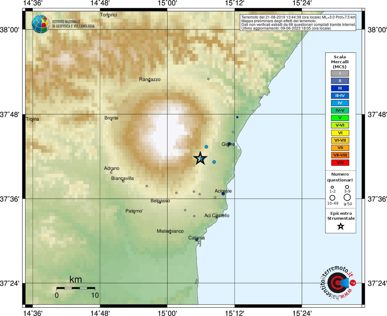 Terremoto alle pendici dell'Etna, paura nel Catanese