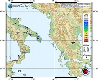 Evento in evidenza, 2021-03-03 11:16:12 in zona GREECE, 6.3 Mw